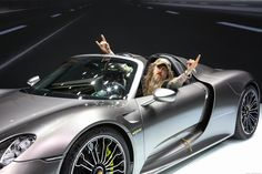 2014 Porsche 918 Spyder with guess who in it