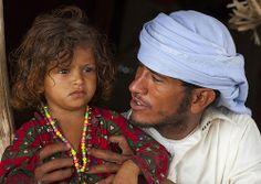 Rashaida Tribe Father And Daughter, Massawa, Eritrea