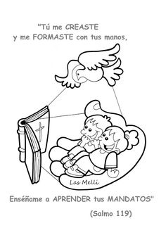La Catequesis (El blog de Sandra): Recursos Catequesis La Creación Bible Stories, Bible Lessons, Sunday School, Coloring Pages, Crafts For Kids, Clip Art, Faith, Comics, Children