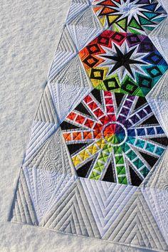 Arcadia Avenue quilt by Megan. Quilting by Tamarack Shack: pattern by Sassafras Lane Designs