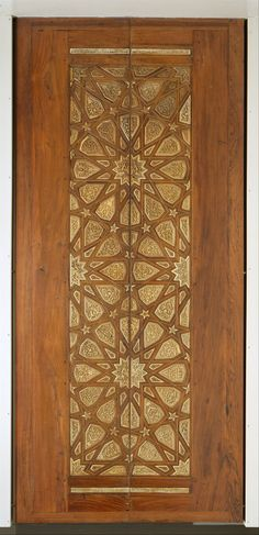 Door from Cairo made from wood (rosewood and mulberry); carved, inlaid with carved ivory, ebony, and other woods. ca. 1325–30 - Edward C. Moore Collection @ The Metropolitan Museum of Art -