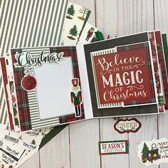 """'Tis the Season mini album by Dorymar Perez featuring the """"Here Comes Santa Claus"""" collection by Christmas Mini Albums, Christmas Minis, Christmas Books, Christmas Journal, Christmas Sentiments, Card Sentiments, Mini Albums Scrap, Mini Scrapbook Albums, Christmas Scrapbook Layouts"""