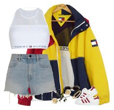 >>>Cheap Sale OFF! >>>Visit>> A fashion look from July 2017 by kahla-robyn featuring Alexander Wang Tommy Hilfiger adidas Natalie B and Versace Kpop Fashion Outfits, Stage Outfits, Edgy Outfits, Retro Outfits, Korean Outfits, Summer Outfits, Girl Outfits, Cute Outfits, Casual Teen Fashion