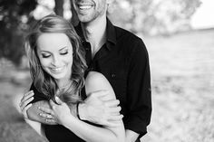 This engagement photo pose is so cute and timeless! Photo captured by @amynicolephoto | http://www.weddingpartyapp.com/blog/2014/10/21/sweet-outdoor-engagement-by-amy-nicole-photography/