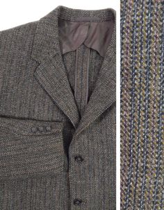 Tweed  Outstanding 1950s vintage striped tweed three button sport coat with petal lining by H. Freeman & Son. $66