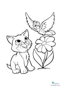 Dibujos Para Pintar Y Colorear Faciles Mas De 100 Pequeocio Gatito Para Colorear Animales Para Pintar Dibujos De Animales