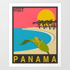 VISIT PANAMA Art Print by Jazzberry Blue