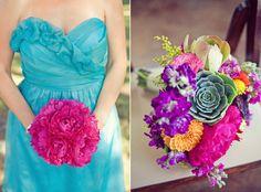 Texas wedding photography - The Nichols photography - vibrant bouquets - succulents - peonies - fuchsia peony - vista west ranch - barn wedding - Mexican fiesta theme