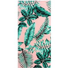 PB Teen The Emily & Meritt Palm Leaf Beach Towel (€12) ❤ liked on Polyvore featuring home, bed & bath, bath, beach towels, towel, backgrounds, accessories, beach, filler and fake palm trees