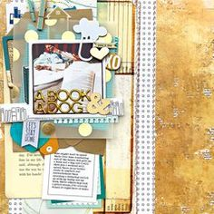 Crate Paper - Flourish Collection. Click for complete supply list. #scrapbookcom #scrapbook