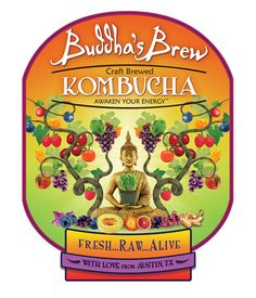 Sustainable, Socially Responsible, Delicious, Nutritious Kambucha from Austin, TX. Probiotic Brands, Austin Tx, Kombucha, Business Travel, Foodie Travel, Packaging Design, Brewing, Buddha, Texas
