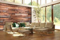 Reclaimed Rustic Wood Wall Mural Wallpaper – D. Wooden Wall Decor, Rustic Wood Walls, Wooden Walls, Barn Wood, Ideas Terraza, Contemporary Wallpaper, Wall Murals, Rustic Decor, Outdoor Furniture Sets
