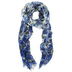 Hydrangea Scarf ($20) found on Polyvore