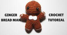 Christmas Gingerbread, Gingerbread Houses, Amigurumi Tutorial, Crochet Ornaments, Crochet Videos, Crochet Projects, Free Pattern, Teddy Bear, Dolls
