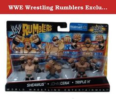 WWE Wrestling Rumblers Exclusive Mini Figure 3Pack Sheamus, John Cena Triple H. Although these WWE figures may be small, they can rumble with the best of them! Each Rumblers 2Pack includes 2 mini figures with smallscale Superstar styling, 4 points of articulation and a mighty grip to hold accessories and rumble with opponents for extreme brawling action! Collect the entire Rumblers world to build your own battle!.