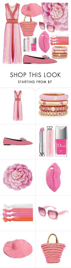 """""""Prowling in Pink"""" by nyla-white ❤ liked on Polyvore featuring Missoni, Adolfo Courrier, Giuseppe Zanotti, Christian Dior, Ballard Designs, STELLA McCARTNEY, Ribband, Miu Miu and Mystique"""