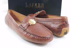 Women's Shoes LAUREN Ralph Lauren CARLEY Loafer Driving Moccasin Leather Brandy #LaurenRalphLauren #LoafersMoccasins #Casual