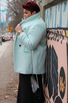I'm so in love with this wool blend blazer style ice blue coat from Old Navy. It was one of my Black Friday finds at 50% off. I had to pair it with my Black Monroe Dress from Curvaceous Boutique.…