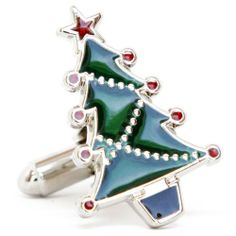 """Christmas Tree and Santa Claus Winter Presents Cufflinks Cuff Links Silver Smith Cufflinks. $28.88. Approximately 3/4"""" x 1/2"""". Free Gift Wrapping with each order!. Comes packaged in a Limited Edition Collectors Storage Box!"""