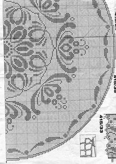Crochet Doily Diagram, Filet Crochet Charts, Crochet Doily Patterns, Crochet Motif, Crochet Doilies, Knit Crochet, Knitting Patterns, Fillet Crochet, Irish Crochet