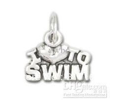 Wholesale small hot sale I Love to Swim sports Charm jewelry, Free shipping, $35.19-77.52/Piece | DHgate