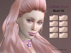 Some shiny glitter stars for your sims. Enjoy and thx! Found in TSR Category 'Sims 4 Female Blush'