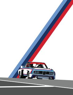Minimalist Race Car Art Print by SwagminsterAbbey - X-Small Car Posters, Retro Posters, African Art Projects, Car Prints, Bike Sketch, Bmw Wallpapers, Car Illustration, Car Drawings, Car Painting