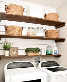 54 Fuctional Farmhouse Laundry Room Decor Ideas