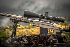Killer Innovations Orias Chassis for Remington 700 Short and Long Action. Finished in Nickel Boron. Killer-Innovations.com #leupoldoptics Tactical Rifles, Firearms, Sniper Rifles, Weapons Guns, Guns And Ammo, Remington 700, Assault Weapon, Bolt Action Rifle, Home Protection