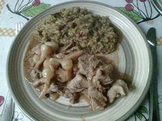 Devaneios Culinários da Tiazinha: Tirinhas de porco com Arelhos e 5 Pimentas