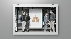 Anti-smoking campaign for Finnish cancer Society. These were Ad-shell installations, made with real cigarette butts.