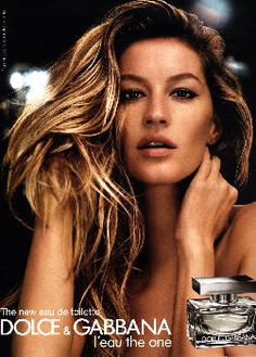 L'Eau The One by Dolce & Gabanna with Gisele Bundchen (2008).
