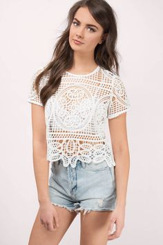 Rise Above White Lace Top