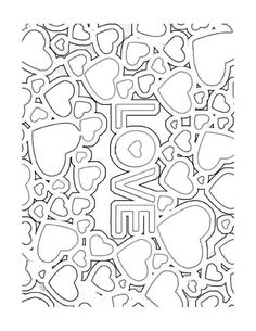 House Colouring Pages, Heart Coloring Pages, Printable Coloring Pages, Adult Coloring Pages, Coloring Books, Colorful Pictures, Cute Pictures, Valentine Coloring Pages, Quilling Patterns
