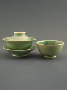 Gaiwan and Cup Set (40 ml), stony textured pocelain w/ celadon glaze. $30.00, via Etsy.