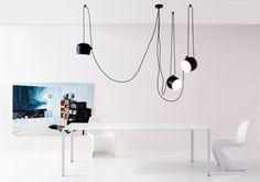 Flos Aim Pendelleuchte Set LED schwarz Shop it bei: http://www.flinders.de/flos-lampen/