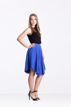 Spódnica z zakładkami borówka - Ynlow-Designed - Spódnice z koła Waist Skirt, Midi Skirt, High Waisted Skirt, Skirts, Etsy, Fashion, Moda, Midi Skirts, Skirt