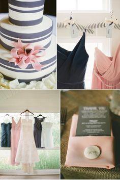 Wedding Color Inspiration: Charcoal   Blush
