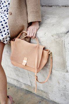 """Boden Bloomsbury Bag. """"In soft suede and leather or suede and Moon's tweed, our new bag has an adjustable strap so you can wear it on the shoulder or across the body."""" #NewBritish"""