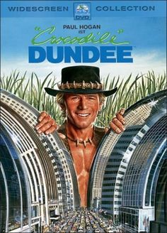 Bare chest. Ridiculous accent. No, it's not Schwarzenegger, it's Paul Hogan (not to be confused with Michael Hogan as Saul Tigh on BSG, or Hulk Hogan as Hulk Hogan on everything). One of at least three movies on this list that involves crocodiles.
