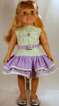 18 Inch Doll Clothing - Pastel Party Dress. $32.00, via Etsy.