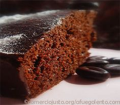 Receta de Bizcocho de chocolate y café | Postres Pasteles, tartas, tartaletas y bizcochos dulces - A FUEGO LENTO
