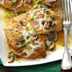 Baked Mushroom Chicken Recipe | Taste of Home