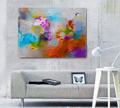 Original abstract acrylic painting, Large wall art canvas, Modern Art Abstract Painting, Acrylic painting on Canvas, Original art work by gabigerart. Explore more products on http://gabigerart.etsy.com