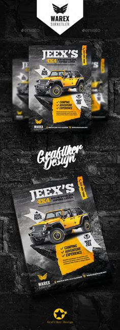 Off-Road Adventure Flyer Templates PSD, InDesign INDD