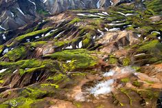 Geothermal View: Breathtaking Aerial Landscapes of Iceland by Sarah Martinet Aerial Photography, Landscape Photography, Nature Photography, Iceland Landscape, Colossal Art, Landscape Pictures, Aerial View, Beautiful Landscapes, The Great Outdoors