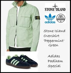 We've teamed up a Stone Island overshirt in peppermint green with the adidas Padiham for a Spezial combination!