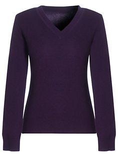 Jaeger Cashmere Mix V-neck jumper, Melange