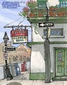 Tommy Kane's Art Blog: The Famous Clover Grill