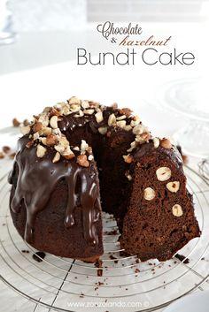 Ricetta ciambella al cioccolato e nocciole senza burro light chocolate and hazelnut bundt cake amazing recipe